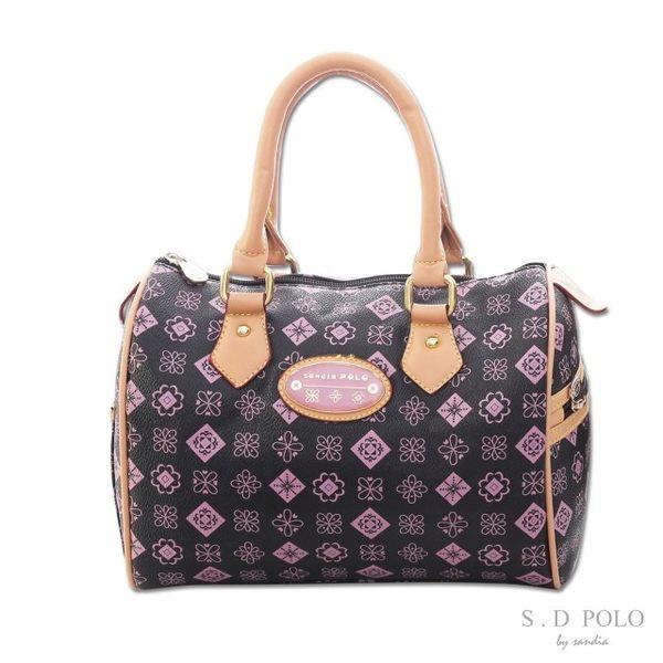 【Sandia Polo】MONOGRAM緹花-法式清甜手提波士頓包-粉紫色-[Z0005/S760-03M2]-禾雅時尚