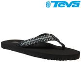 TEVA 超輕量舒適記憶鞋床織帶夾腳拖 Mush 2– 格子黑