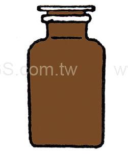 茶色廣口瓶 經濟型 Bottle, Wide-Mouth, Amber