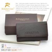 ROBERTA諾貝達真皮夾零錢包皮包短夾男夾-鑰匙包24010-2咖啡