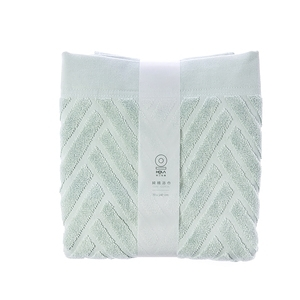 HOLA 葡萄牙純棉浴巾-斜角綠70x140cm