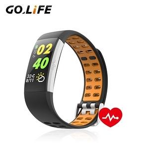 【GOLiFE】Care U 多功能智慧運動心率手環(彩屏觸控 健康管氣質黑