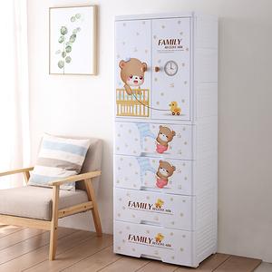 【Mr.box】寶貝熊雙開門式兒童吊掛衣櫃(二門4大抽屜)