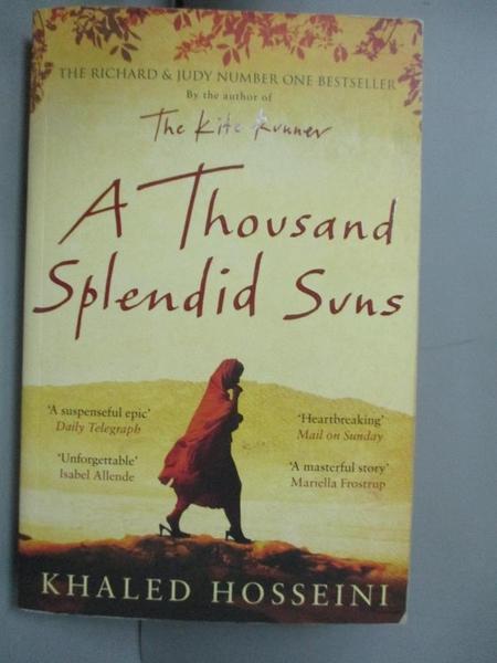 【書寶二手書T2/原文書_GVA】A Thousand Splendid Suns_KHALED HOSSEINI