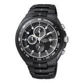 CITIZEN OXY 時尚運動風潮計時腕錶/黑面黑鋼/AN4019-52E