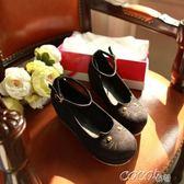 娃娃鞋 韓版歐美小貓頭坡跟繫腕厚底鬆糕鞋娃娃鞋 新品