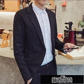 西裝外套 韓版西服男士春秋休閒上衣潮男裝英倫新款小西裝秋裝修身外套【全館免運】