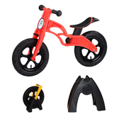 【虎兒寶】兒童平衡滑步車組合 -AIR 充氣胎 +置車架(紅)【屈臣氏】