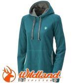 【Wildland 荒野 女款 遠紅外線連帽保暖上衣 藍綠】0A320503/連帽上衣/保暖衣/保暖長袖/帽T★滿額送