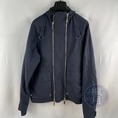 BRAND楓月 Christian Dior 迪奧 深藍色 雙拉鍊 立領 夾克 外套 短版 中性 #44