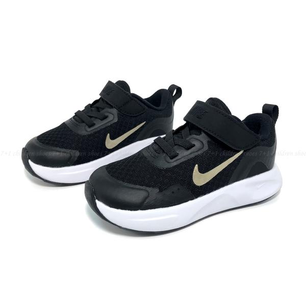 《7+1童鞋》小童 NIKE MD VALIANT (TD) 網布透氣 運動鞋 H826 黑色