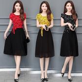 M-5XL洋裝 大碼洋裝連身裙 雪紡連身裙女裝群子高端有女人味的流行天裙子8039 N2FB13衣時尚