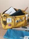 手賬收納包筆袋女簡約日系大容量帆布包多功能純色云舒同款文具袋 黛尼時尚精品