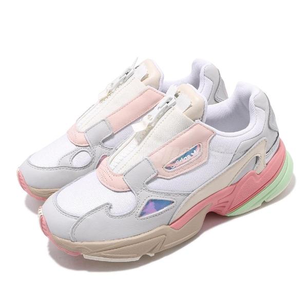 【四折特賣】adidas 休閒鞋 Falcon Zip W 白 灰 女鞋 運動鞋 老爹鞋 【ACS】 EG6740