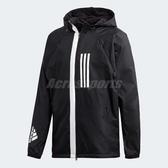 adidas 連帽外套 W.N.D. Fleece Lined Jacket 黑 白 男款 基本款 夾克【ACS】 DZ0052