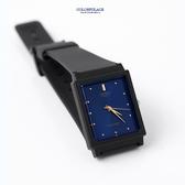 CASIO卡西歐方形沉穩藍面膠錶 柒彩年代【NEC35】