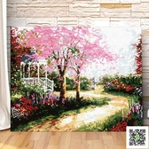 數字油畫diy 數字油畫抽象風景客廳動漫人物填色減壓油彩畫 手繪裝飾畫玫瑰女孩