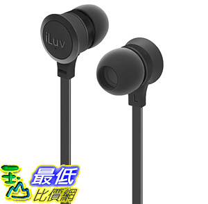 [106美國直購] 耳機 iLuv IEP336BLK In-Ear High Performance Stereo Earphones with Mic for Hands-Free