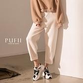現貨◆PUFII-寬褲 素面鬆緊腰針織奶奶褲-1110 冬【CP19402】