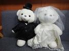 【45公分】大號 珍珠熊 結婚熊 婚紗熊 摩根船長泰迪熊 禮物 拍婚紗道具 結婚宴客 一對兩隻不拆售