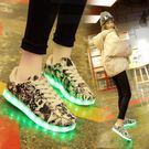 男鞋燈鞋充電情侶運動鞋USB發光鞋休閑時...