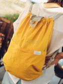 防水袋 束口袋雙肩包抽繩雙肩背包男女戶外旅行旅游運動健身包折疊 俏女孩