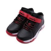 DIADORA 魔鬼氈中筒籃球鞋 黑 紅 DA13003 大童鞋