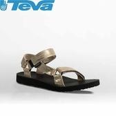 【TEVA 美國 女 Original U 經典涼鞋 金 】1007549GOLD/運動涼鞋/海灘鞋/涼鞋/休閒涼鞋/溯溪/泛舟