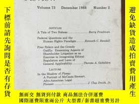 二手書博民逛書店Minnesota罕見LAW REVIEW Vol.73 No.2Y4615 University of Mi
