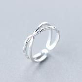 戒指 925純銀-氣質雙層生日情人節禮物女開口戒73dt794【時尚巴黎】