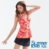 【Summer Love 夏之戀】幾何印花長版三件式泳衣(S18705)