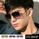 OT SHOP太陽眼鏡‧歐美系粗框經典方框雷朋太陽眼鏡‧ 漸層鏡片 抗UV高質感特殊設計‧U22