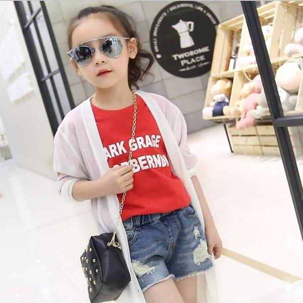 衣童趣 ♥韓版 暢銷熱賣款 中大女童 刷破 牛仔短褲 休閒百搭 外出款 短褲