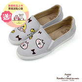 Paidal x 卡娜赫拉的小動物 小女孩&喵喵喵咪趣味貼布平底休閒鞋樂福鞋懶人鞋