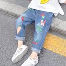 秋裝女童牛仔褲春秋洋氣女寶寶秋冬加絨長褲寬鬆休閒小兒童褲子軟  【端午節特惠】