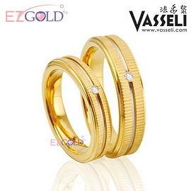 VASSELI ◤忘情巴黎◢ 鎢鋼鑽石戒(女)