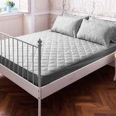 DOKOMO朵可•茉-MIT台灣精製《標準雙人5x6.2尺防潑水床包式保潔墊+枕頭套式保潔墊x2》- 紳士灰