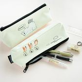 北極萌寵筆袋創意帆布鉛筆文具袋