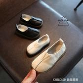 新款兒童皮鞋男童女童單鞋寶寶小童軟底豆豆鞋小白鞋 童趣潮品