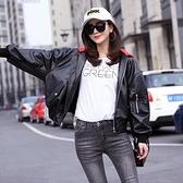 皮衣外套-連帽寬鬆短款修身女夾克73on44【巴黎精品】