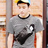 胸包 男士胸包韓版潮流軟皮包包商務單肩斜背包休閒腰包運動小背包   琉璃美衣
