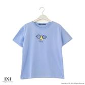 【INI】週慶限定、活潑可愛圖案上衣.水藍色