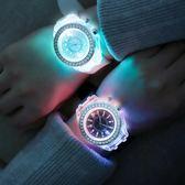 韓版夜光發光手錶個性原宿韓版時尚潮男女中學生熒光情侶手錶 小艾時尚