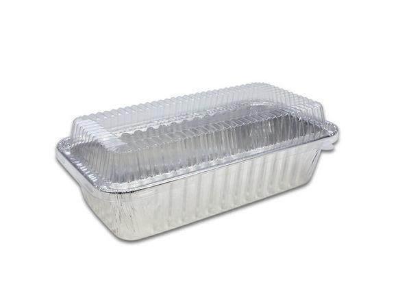 (附蓋) 5入 長條形 鋁碗鋁箔容器 蛋糕盒 蘿蔔糕 鋁箔盒 錫箔盒 烤模 蛋糕模 火鍋A161