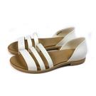Crocs tulem open flat 涼鞋 白色 女鞋 206109-1CQ no040