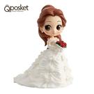 日本限定 Qposket 迪士尼公主系列 美女與野獸 貝兒 婚紗版 公仔模型 (蠟筆色)
