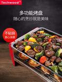 燒烤爐  韓式燒烤爐家用無煙多功能室內電烤盤不粘烤串鐵板燒烤肉機燒烤架 夢藝家