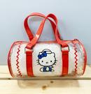 【震撼精品百貨】Hello Kitty_凱蒂貓~Sanrio HELLO KITTY防水圓筒收納包/透明手提包-水手紅#83868