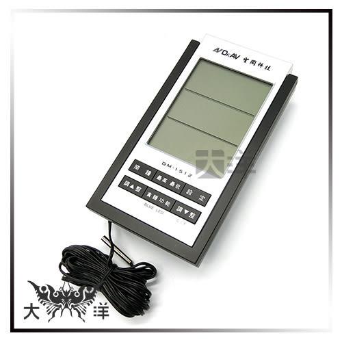 ◤大洋國際電子◢ 聖岡科技 GM-1512 專業級室內外藍光溫濕度計溫度計 溼度計 廚房 工廠 電池另購