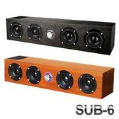 【現貨】SUB-6木質藍芽喇叭 超強重低音 復古木質 重低音砲 支持 插卡 插線 (超取最多訂購1台)
